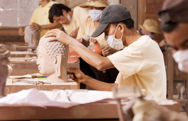 Artisans D'Angkor - Wooden Carving 2 - Angkor Focus Travel