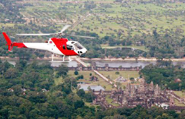 Cambodia Helicopter Tours Kulen Waterfall - Angkor Focus Travel
