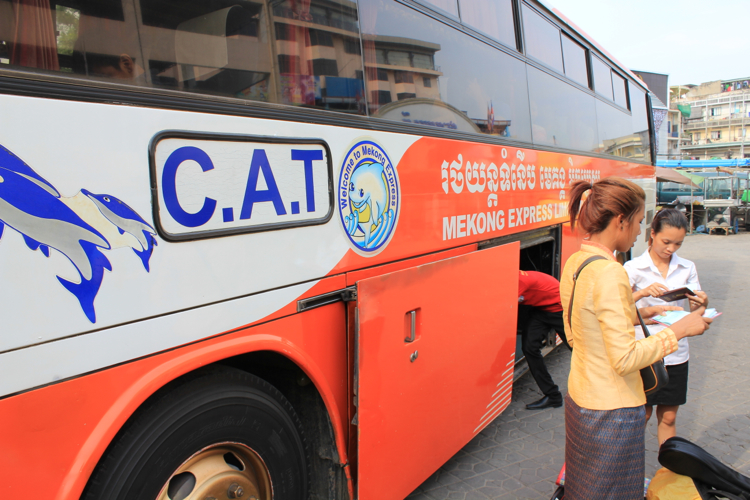 How to get to Kampong Cham Bus 2 - Angkor Focus Travel