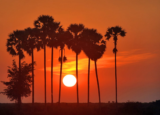 Kampong Cham Climate Sunset - Angkor Focus Travel