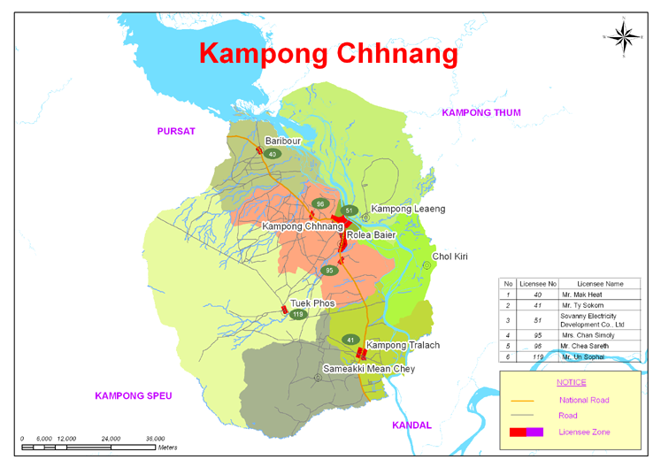 Kampong Chhnang Geography Administrative Map - Angkor Focus Travel