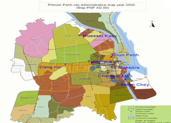Phnom Penh Geography Map 2 - Angkor Focus Travel