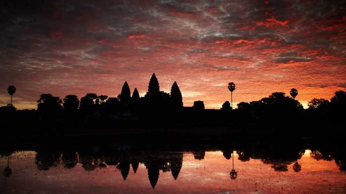 Siem Reap Weather & Climates Sunrise At Angkor Wat