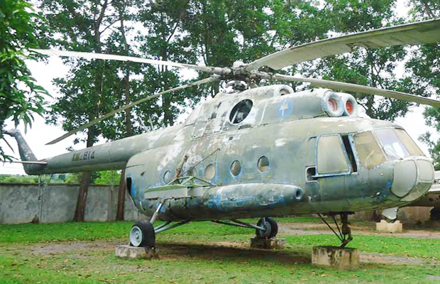 Siem Reap War Museum Historical Helicopter - Angkor Focus Travel