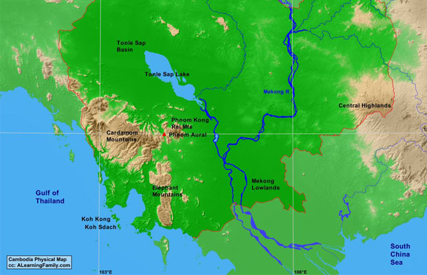 Cambodia Physical Geography