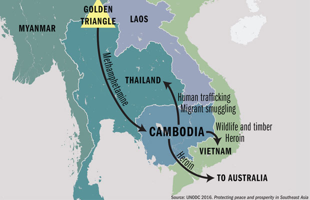 Cambodia a hub for drugs