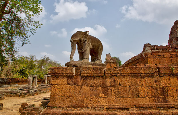 Historical of Elephant at East Mebon Temple