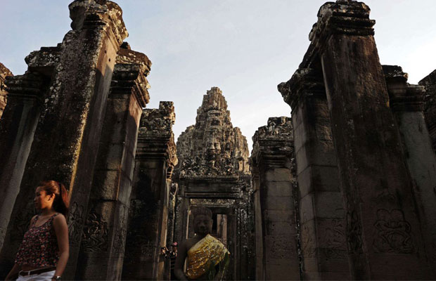 Inside Complex of Angkor Wat Temple